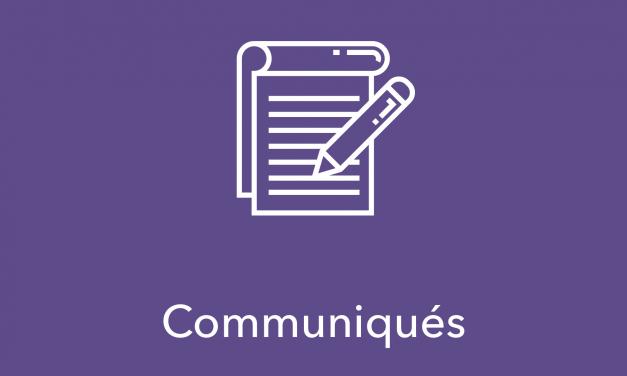 Communiqué – Proposition de moyens pour la mise en oeuvre du projet éducatif