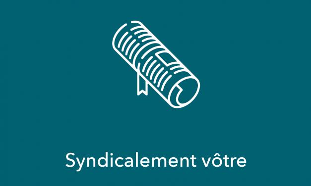 Syndicalement vôtre – Vol 26 N°1
